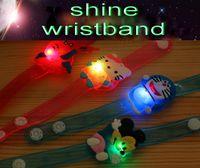 Wholesale 2016 new style children s toys gifts LED lighted flash wristband shine bracelet party fashion animal kids hand ring