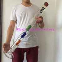 Wholesale glass bong inches big bongs high quality water pipes three layers arm perc mm thickness bong giving downstem and bowl