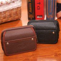 Wholesale New Arrivals Men s Waist Bags Cell Phone Pouch Coin Purses Wallets Large capacity PU Leather Size CM EK139