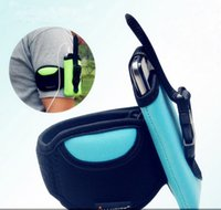 Wholesale universal multi function Phone Arm band case cellphone holder arm wrist belt outdoor sports for iPhone Samsung LG Nylon pouch