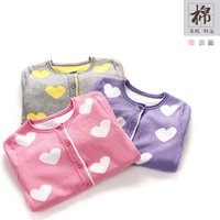 Wholesale 2016 kids clothing kids clothes autumn new Children love baby mercerized cotton sweater cardigan sweaters of the girls