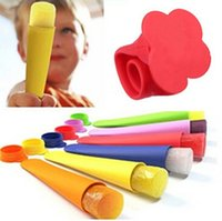 Cheap 100pcs Silicone Pop Yogurt Push Up Ice Cream ice Lolly Pop Maker Frozen Stick Jelly Popsicle Mould Mold DIY