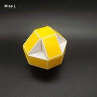 Blanc jaune 24 contours Magic Règle Twisty serpent Puzzles éducatif jouet