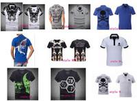 Wholesale 2016 new brand Skull t shirt men d printing hip hop t shirt Summer Business Men s t shirts fashion PP Short Sleeve top tees