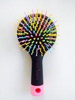 Wholesale New brand Rainbow Volume Brush Magic hairbrush Massage anti static Brush for hair Tangle brush comb With Mirror