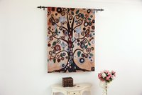 Wholesale Abstract Tree of Life Fine Art Tapestry Wall Hanging Home Decor Gift Cotton Jacquard Woven x cm
