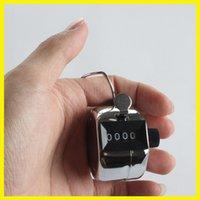 Promotion inoxydable 5203 Lap Mini Sport Métal Golf Handheld Manuel 4 Digit Argent Nombre Main Tally Counter Clicker
