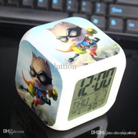 Wholesale LOL League custom birthday gift colorful cute cartoon alarm clock creative surrounding student
