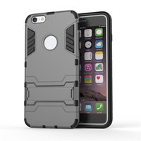 Wholesale Extreme Shockproof Dropproof multilayer Protection holders stands kickstand Iron Man Armor case for iphone s s plus drop shipping