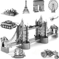 architecture great buildings - Alloy Metal Miniature Scale Model Eiffel Leaning London Tower Bridge d Puzzle World s Great Architecture Building Toys