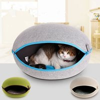 Wholesale Lovely Beautiful High grade Pet Nest Egg Type Cat And Dog Bed Detachable Easy To Clean Suitable For Four Seasons