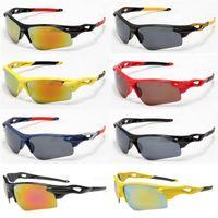 Gafas de sol polarizadas fresco para los hombres medio marco anti-UV deportes gafas de ciclismo gafas de sol de marca de fábrica barata para los adultos