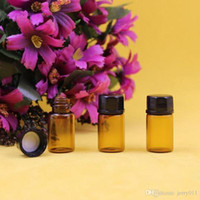 Wholesale 2 ml dram Amber Glass Essential Oil Bottle Orifice cap ZH204