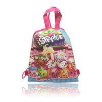 Wholesale Hot Style Kid s School Bag Non woven Fabrics Sho Kins Cartoon School Drawstring Backpack cm Non woven Material Kids Best Gift