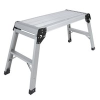 aluminum work bench - Aluminum Platform Drywall Step Up Folding Work Bench Stool Ladder