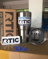 Wholesale 30oz RTIC Stainless Steel oz RTIC Logo Cups Tumbler Rambler Cups Sharp as YETI oz Mugs Rtic Cups with Lids
