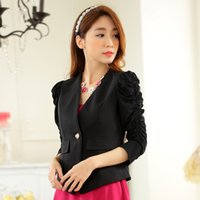 Wholesale Under Dallor Fall Style Single Button Casual Women Blazers Long Sleeve Sheath Short Crop Top Size M xl Large Size Women Clothing White