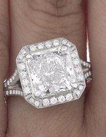 certified diamonds - GIA Certified Princess Cut Round Brilliant Diamond Engagement Ring