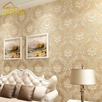 Wholesale Luxury European Damask Non woven D Stereoscopic Embossed Wallcovering For Living Room Bedroom TV Background Thicker Wallpaper