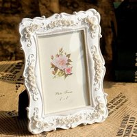 bamboo borders - Crafts gifts pure white roses frame European borders resin frame inch frame