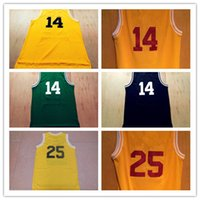 Wholesale 2016 Summer Bel Air New Jersey Basketball Jerseys Yellow Black Green Yellow Jerseys for Men Stitched Name Number