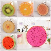 Wholesale 6 design Watermelon Sofa Throw Pillow d Fruit Office Chair Back Cushion Watermelon Kiwi Sofa Office Home Pad Cushion LJJK92