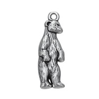 antique bear - My Shape Fashion Jewelry Series Zinc Alloy Antique Silver Plated Online White Bear Shaped Animal Charms