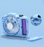 Wholesale Camera Style Vanes Mini Fan Battery USB Fan Air Conditioning For Home School Office