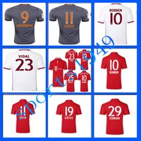 Wholesale rugby Bayern Munich Jerseys Shirt Robben Alonso Muller Lewandowski Vidal Wholesalers Germany league