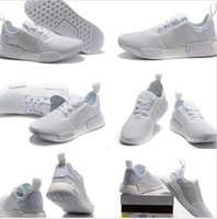 athletic spikes - Drop Shipping Cheap Famous Original NMD Runner Primeknit All White Womens Mens Sports Running Athletic Sneakers Shoes Size
