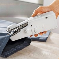 Wholesale Handy Stitch Handheld Electric Sewing Machine Mini Practical Portable Cordless Household Supplier Home Tool Free Bonus