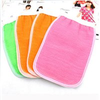 Wholesale cm double sided towel bath gloves strong thickening mud rub back towel bath g