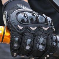 Wholesale NEW PRO Knight Full Finger Protective Gear Black Carbon Fiber Pro Biker Bike Motorcycle Motorbike Racing Gloves Luvas M L XL XL
