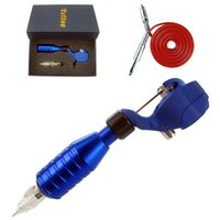 alloy hawk - Hawk Pipe Rotary Tattoo Machine Gun blue with quot Adjustable Grip Permanent Makeup Pen Needle Colors available