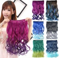 Wholesale Seamless Clip Thick Hair Pieces Hair Extensions New Fashion Women and Girls Long Curly Human Hair Extensions
