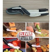 Wholesale High Quality Clever Cutter in Stainless Steel Kitchen Scissors with Sharp Knife Blade Cutting Board Kid Food Cutter for Meat Vegetable