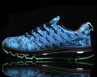 air concrete - New Fingertrap Air Max Men s Training Shoes camo blue green grey Weave sneakers plus size US12 US13