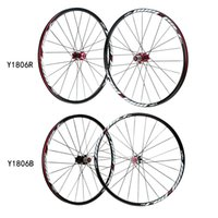 Wholesale 26 Lightweight Bicycle Wheel H Disc Brake Aluminium Alloy Seamless V rim MTB Mountain Bike Wheel Set Hubs Rim Front Rear Set