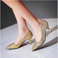 b listing - Fall new slipper shoes fine with sequins wedding party bride shoes work shoes for women s shoes point list