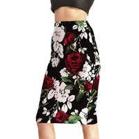 Wholesale Summer Hot Fashion Women High Waist Digital Printing Pencil Skirts Women s New Floral Printed Slim Sexy Package Hip Skirts S XL
