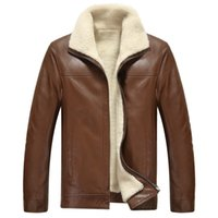 big mens outerwear - Fall Business Casual Coats Men Leather Jacket Winter Thicken Clothing Leather Jackets Mens Jackets And Coats Outerwear Big Size XL