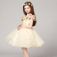ancient poets - Flower Girls Dresses Restore Ancient Ways In Painting Design Aesthetic Champagne Dress Climbing Inspired Cut Fine Handmade Flowers