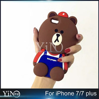 For Apple iPhone iphone cover cute bear - Cute Cartoon D Little Teddy bear Phone case silicon Cover For iphone s Plus Plus