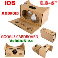 Wholesale 3D Glasses DIY Google Cardboard V2 Glasses VR Virtual Reality D Viewing google II Glasses For Iphone S plus SE Samsung s7 s6 edge