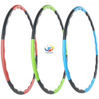 Wholesale 80CM fitness removable weight loss Hard Tube equipment waist slimming hula hoops three colors