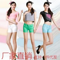 Wholesale candy color Women Shorts Summer Hot Casual Shorts Womens Sports Shorts Black Blue Grey Green Pink Leisure Jogging Shorts Drawstring