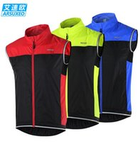 Wholesale ARSUXEO Men Cycling Vest MTB Bike Bicycle Breathable Windproof Vest Waterproof Clothing Sleeveless Cycling Jacket