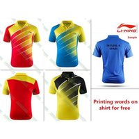 Wholesale Discount Products NEW Li Ning Outdoor sports men s Tops tennis badminton Table Clothes Only T shirts