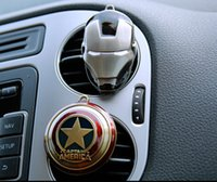 aromatherapy accessories - Alloy Chromed Avengers Car Air Outlet Perfume Natural Essential Oils Solid Air Freshner Aromatherapy Clip Creative Interior Accessories