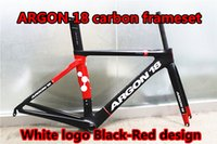 Wholesale The model of White logo Black Red ARGON K carbon frames Made in China with BB68 BB86 road bike carbon frameset